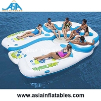 Relaxation Station Inflatable Air Water Lounge River Tube Raft/ Inflatable lounger