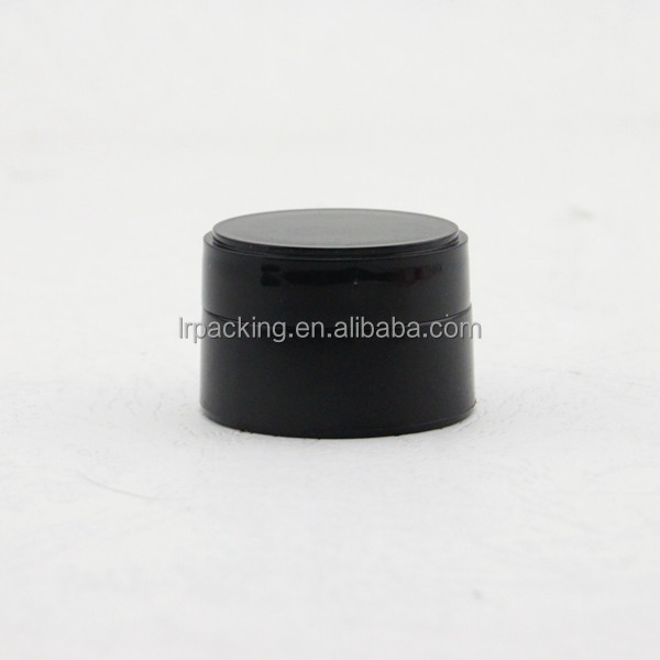 5ml nail polish black cosmetic put plastic