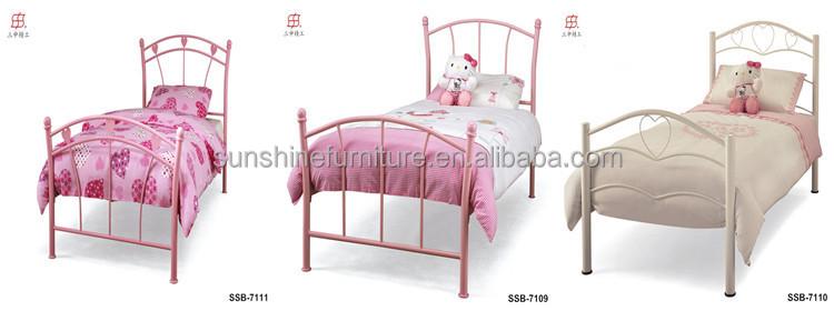Home Bedroom Furniture Single/twin Size White/black/blue/pink Kids ...