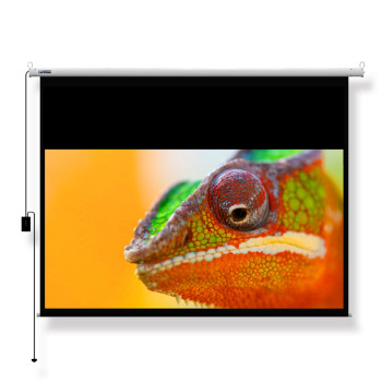 "100"" 16:9 Electric Ceiling Recessed Screen, motorized projection screen"