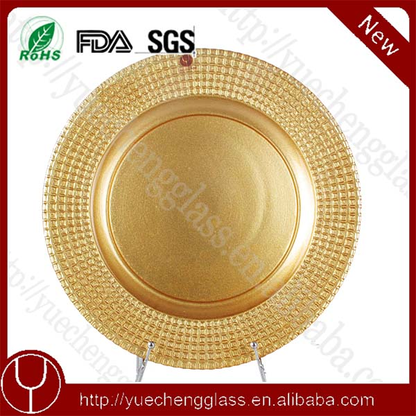 Brand new 2016 gold cheap dinnder charger <strong>plates</strong> for wedding