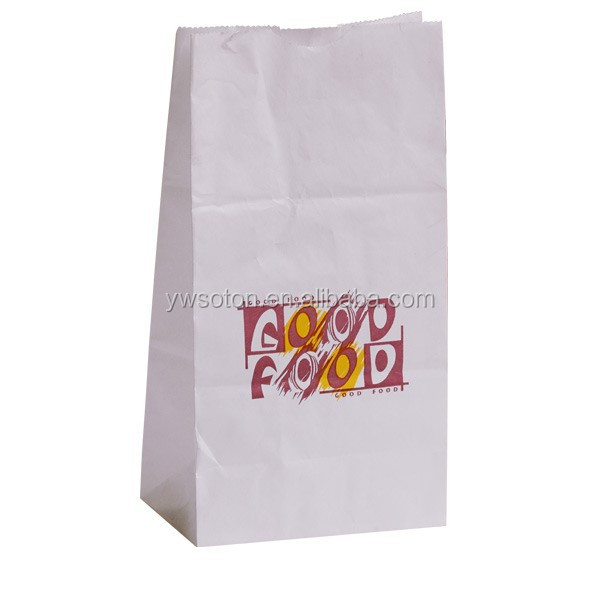 Take Away Fast Food Paper Bag Disposable Food Biscuit Bread Pizze Hamburger Paper Container For Noshery