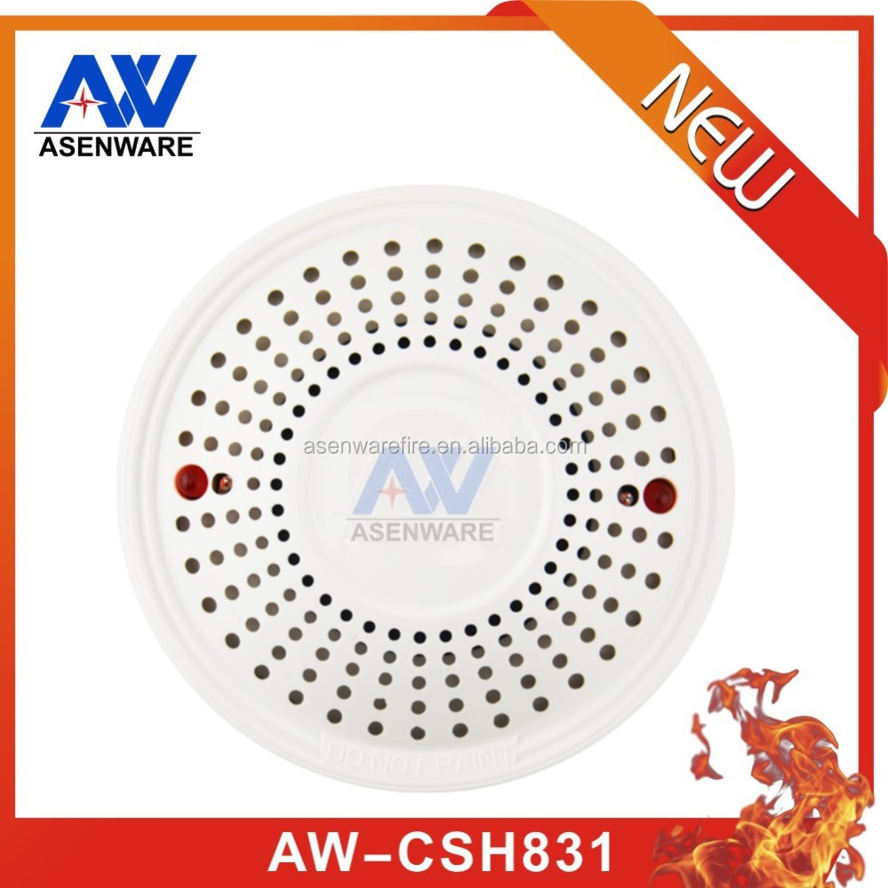 System fire alarm control 220V smoke and heat detector,smoke and heat detector test