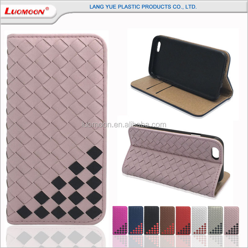 Mobile phone accessories handcrafted woven mobile phone case for iPhone 7/7s/8