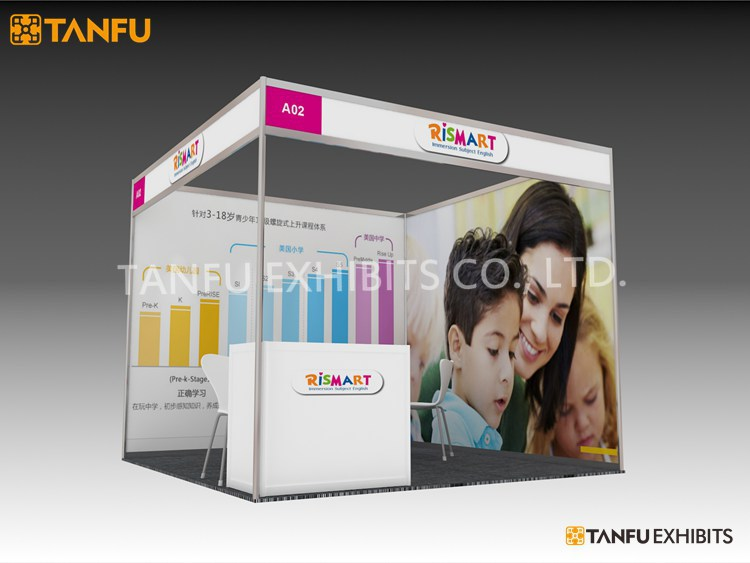 Exhibition Booth Package : Tanfu ft trade show standard shell scheme booth
