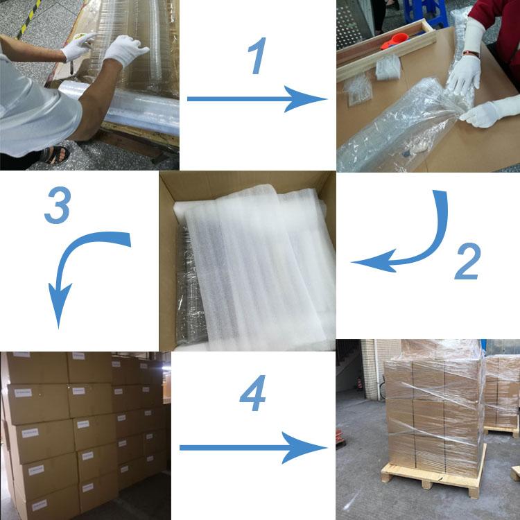 OEM PET De Plástico Transparente Caixa de Embalagem Clamshell Para Hardware