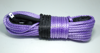"ATV/UTV rope, 3/8"" x 100' uhmwpe waterproof synthetic winch rope"