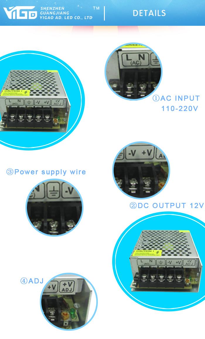 Ac110v Outdoor Logo Use Mini Led Power Transformer For Dc12v 60w ...
