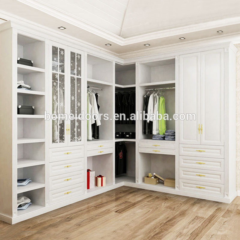 L Type White Wardrobe Closet For Sale Buy Wooden