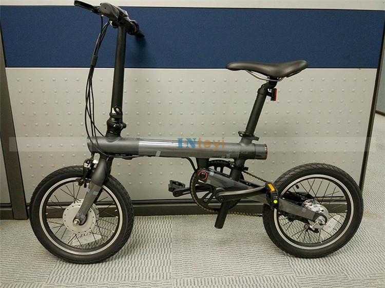 original xiaomi electric bike qicycle mini electric power portable smart folding 16inch bike. Black Bedroom Furniture Sets. Home Design Ideas