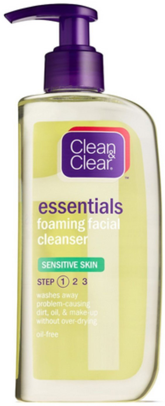 Cln&Clr Sen Clnsr Size 8z Clean & Clear Sensitive Skin Foaming Facial Cleanser