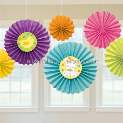 how to make hanging paper fan decorations. Black Bedroom Furniture Sets. Home Design Ideas