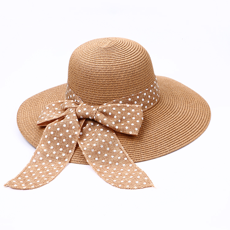 Wholesale Woman Summer Hats Lady Beach Paper Straw Hats