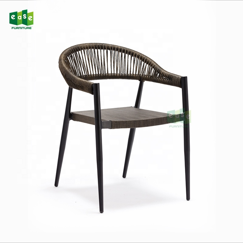 bistro garden dining chairs furniture rattan fabric seat