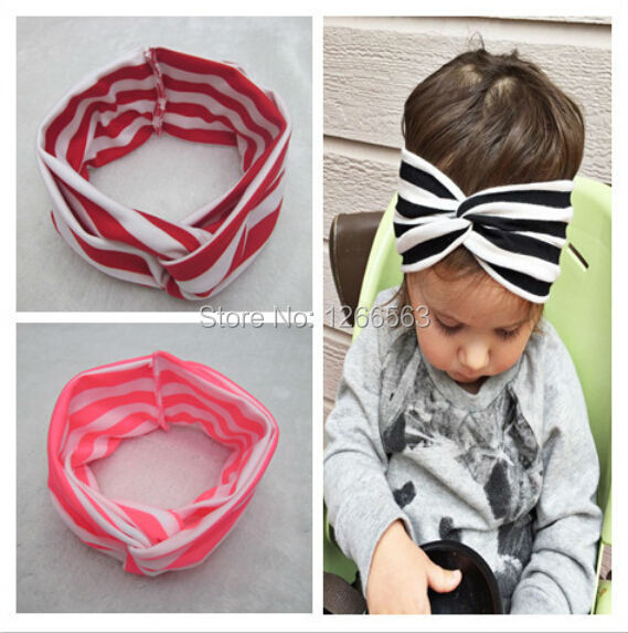 Bandeau Cheveux Knot Headband Baby Girl Head Striped Turban Baby Girl Headbands Haarband Baby Hairband Hair Accessories
