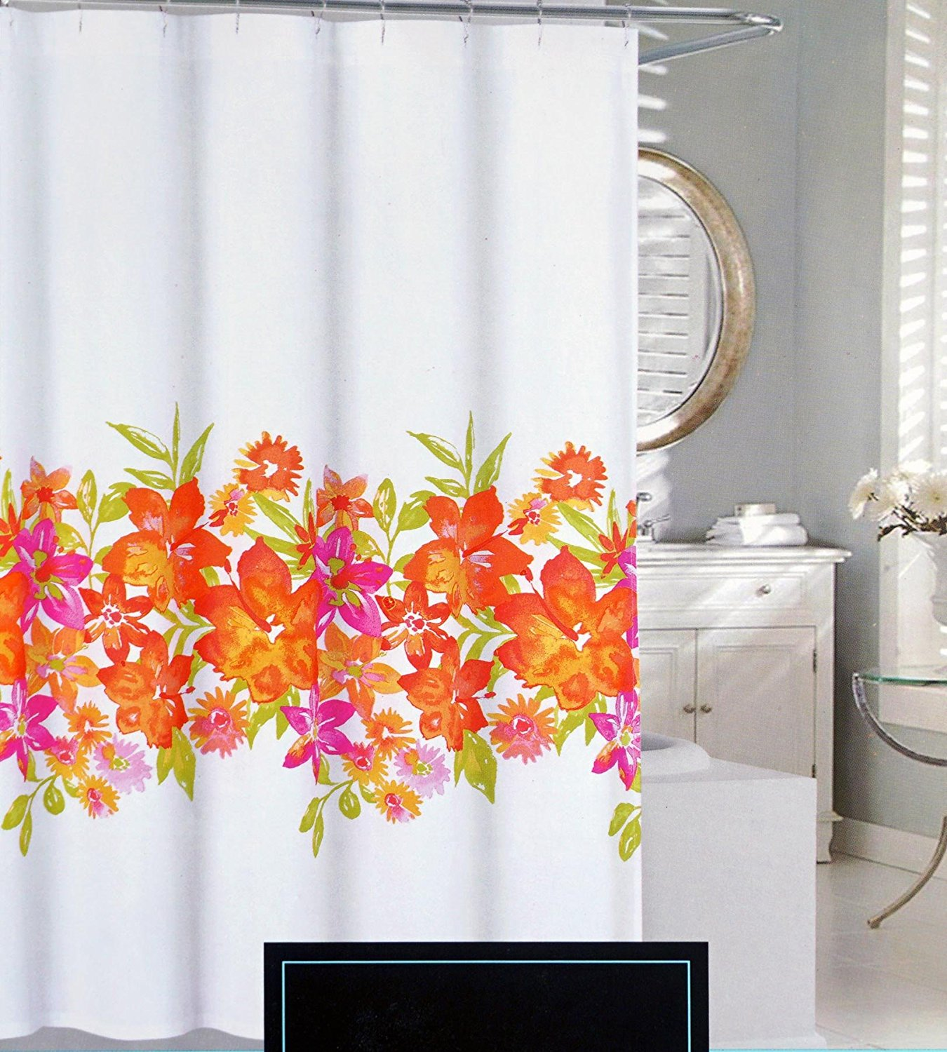 pink and yellow shower curtain. Get Quotations  Cynthia Rowley Fabric Shower Curtain Pink Orange Yellow Green Floral Pattern Maui Cheap And Find