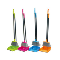 House cleaning plastic broom and dustpan sets wholesale broom