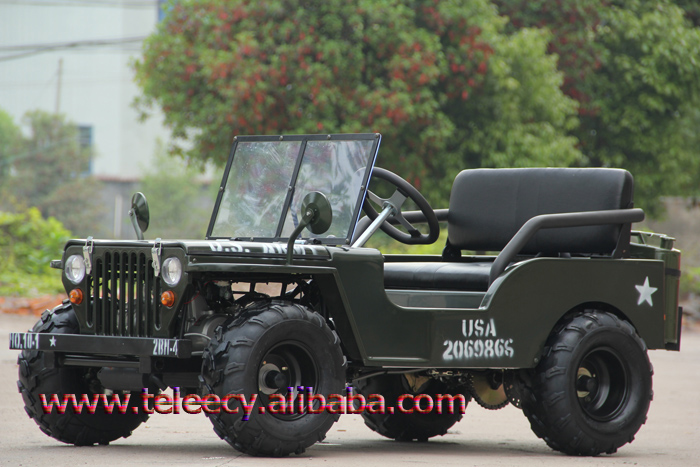 Christmas Gifts mini 110cc willys jeeps with Manual Transmission