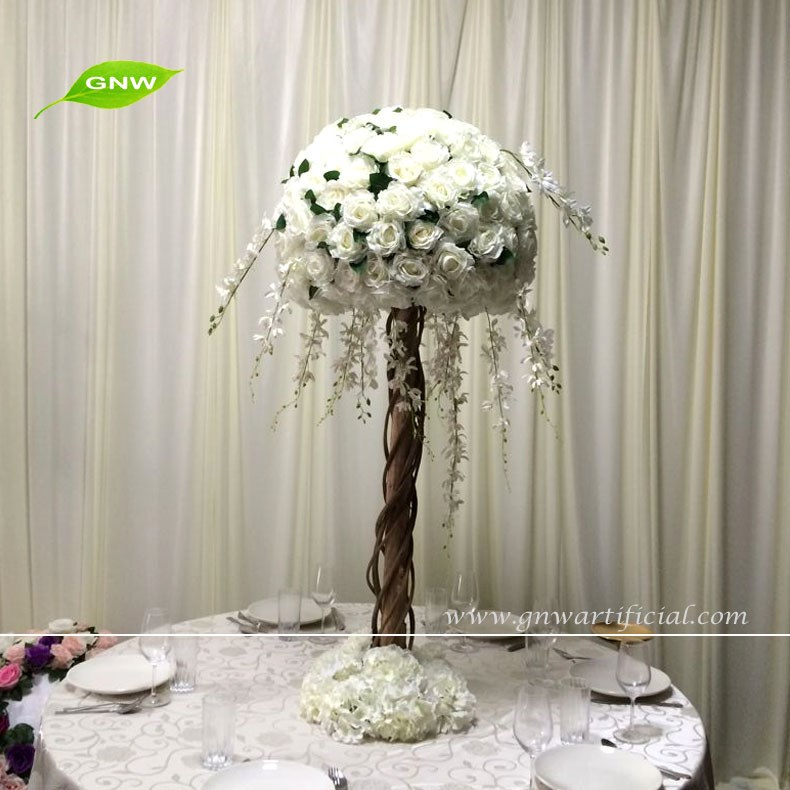 Gnw ctr w hot sale white rose ball hanging wisteria