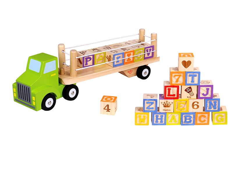 Best selling wood blocks letter train building