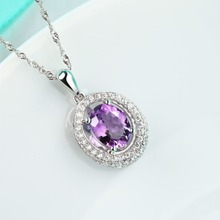 China wholesale 925 silver jewelry set rough amethyst jewelry set factory prices