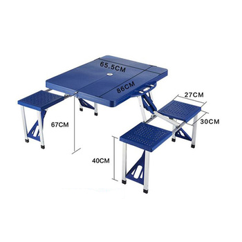 High Quality Abs Folding Table Set Portable Outdoor Camp Suitcase ...
