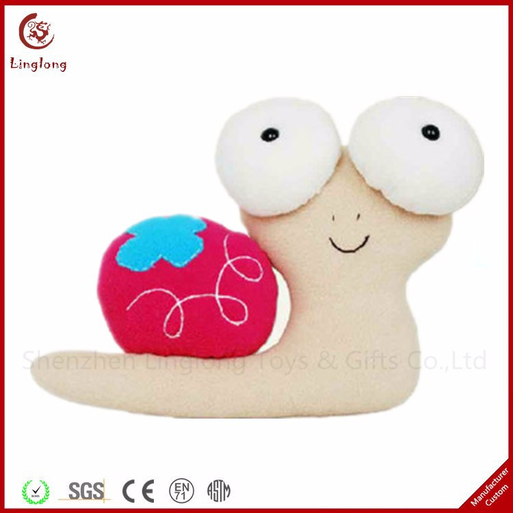 Oem Cartoon Snail Animal Cushion Rosiness Hodmadod White Snail Doll Plush Big Eyes Snail Toy