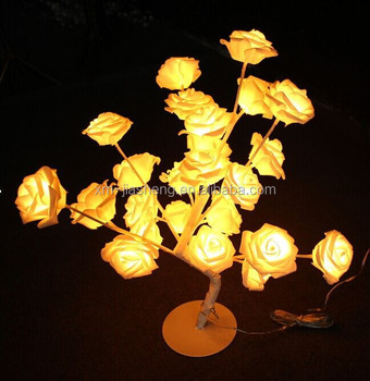 eco friendly low voltage rose flower led christmas tree light