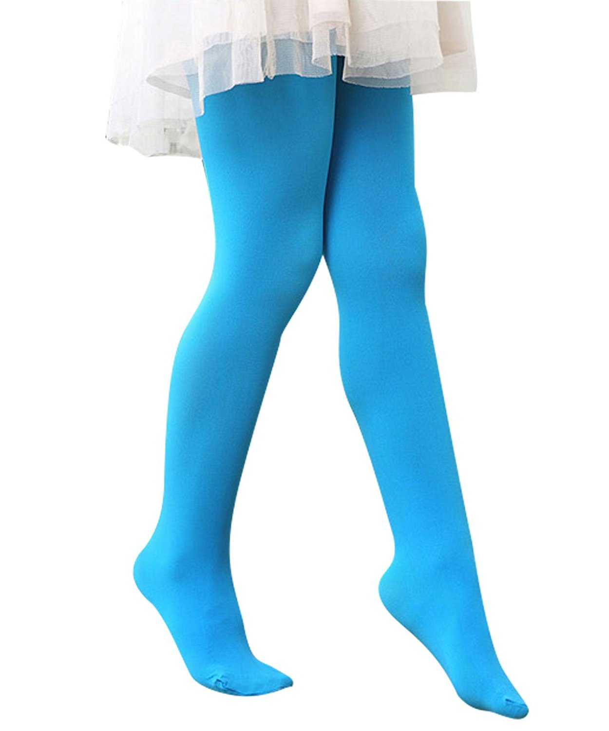 816e317392d6c Get Quotations · Durio Girls Stretchy Soft Legging Microfiber Comfortable  Kids Footed Tights Stockings Child Ballet Dance Tights Leggings