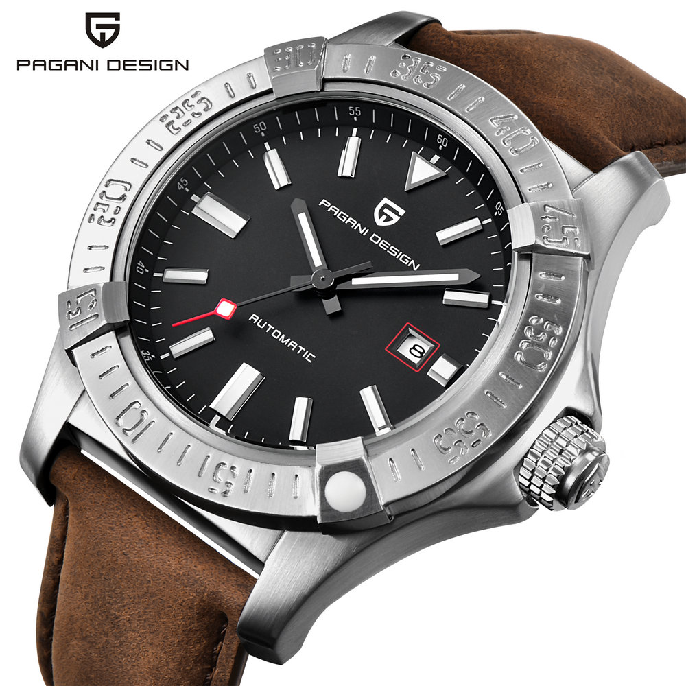 Pagani Design Watch For Man With Leather Band Alloy Case Mechanical