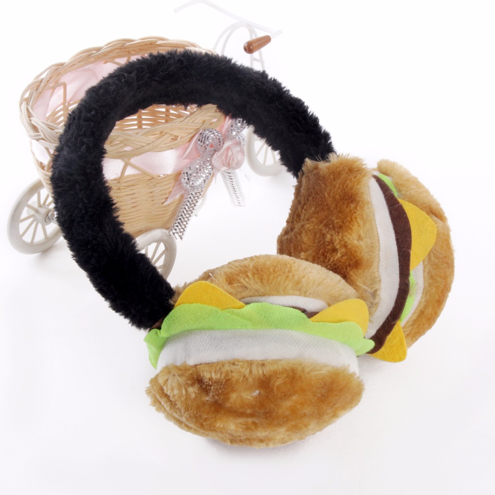 Ear Warmer Winter Warm Cheez Pizza Hamburger Earmuffs