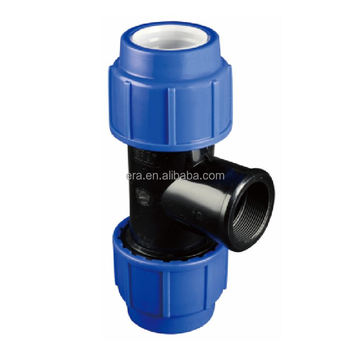 ERA Female Thread Tee PP Compression Fittings
