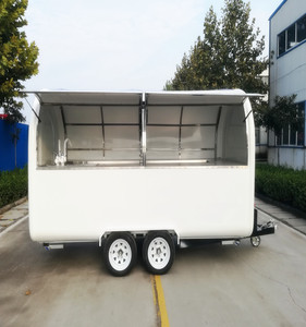 Four Wheels Mobile Street Food Truck Ice Cream Trailer Food Kiosk Truck For Sale