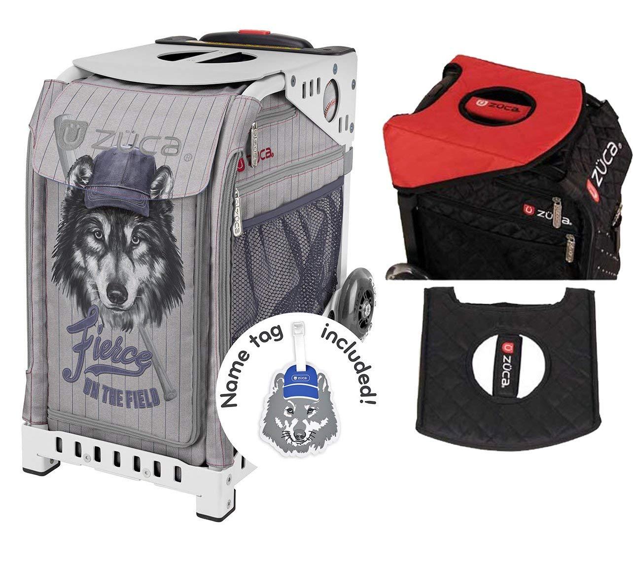 ZUCA Fierce On The Field Sport Insert Bag & White Frame + Gift Seat Cushion