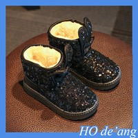 new fashion kids warm winter sequined snow boots children winter boots