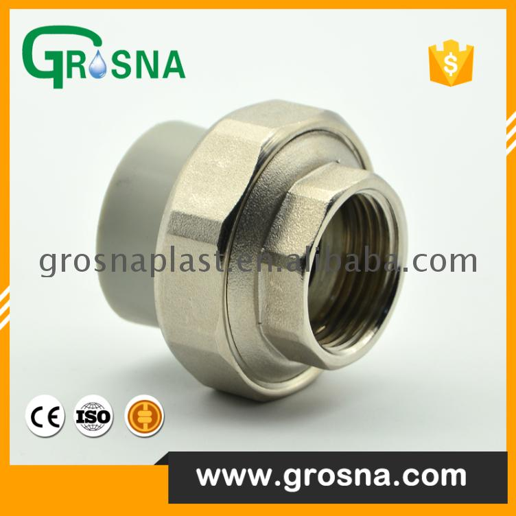 Grosna Grey brass union Valve Manufacturers High Quality Ppr