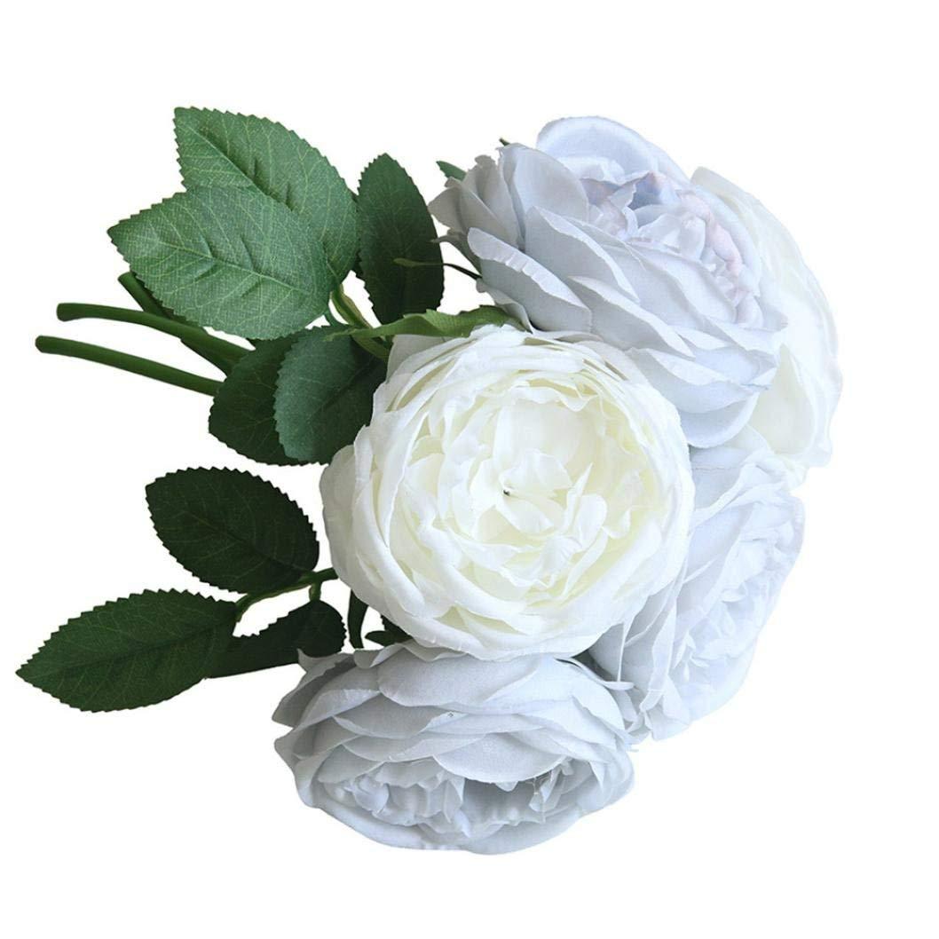 Cheap bouquet blue flowers find bouquet blue flowers deals on line get quotations artificial silk flowersclearance artificial fake rose silk flowers 5 flower head leaf garden mightylinksfo