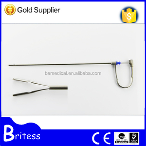 Surgical 330mm endoscopic spring grasping forceps