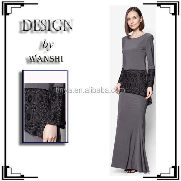 High Quality Lace Design Fashion Baju Kurung Modern