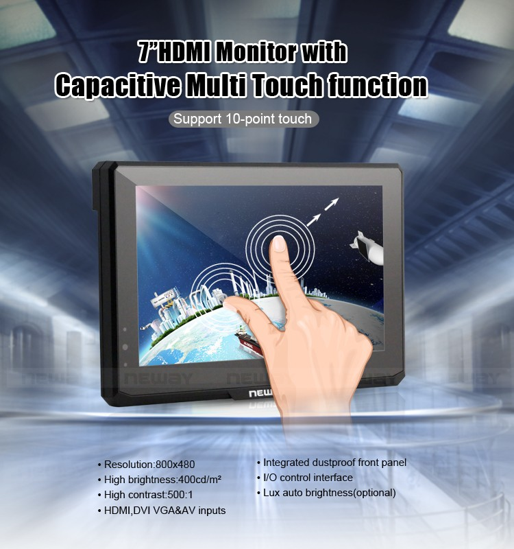 """7"""" MultiTouch Small Portable LCD LED Touch Screen TFT Monitor"""