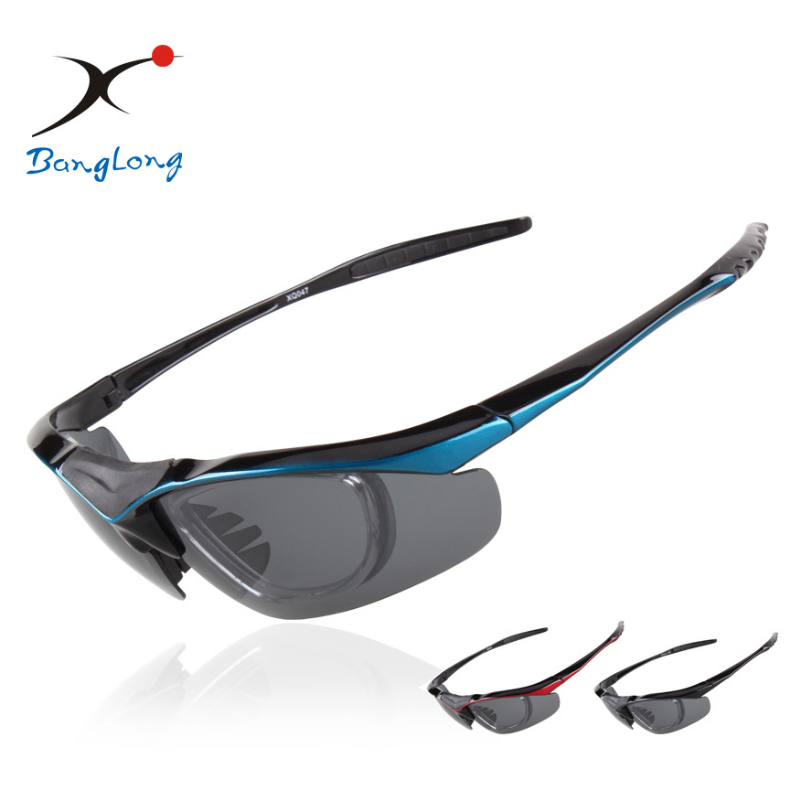 Dust proof hot selling sport cycling sunglasses with 5 lenses