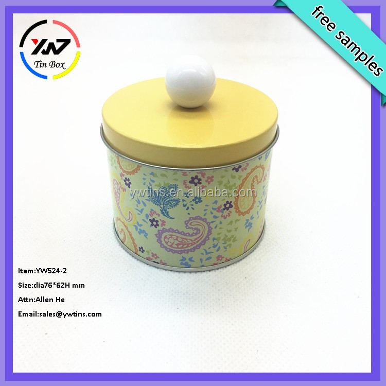 round tin box for fruits/cookie/candy round tin/cookie round can