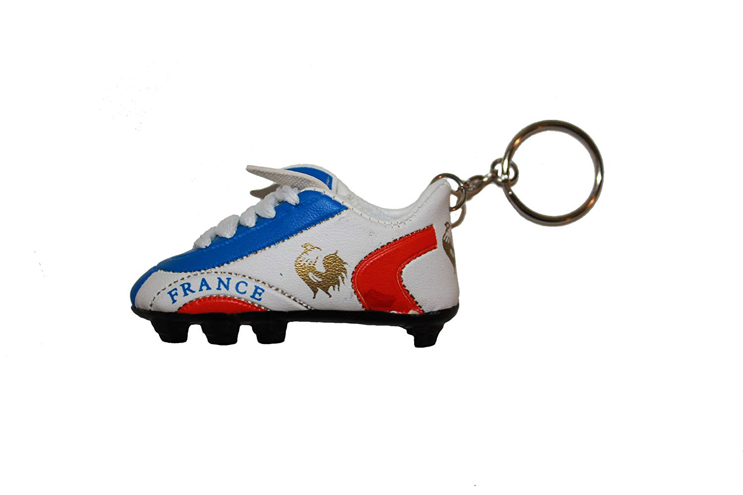 France Blue White Red Soccer Shoe Cleat Keychain . High Quality .. New