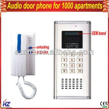 Multy-unit Apartment Audio Intercom System