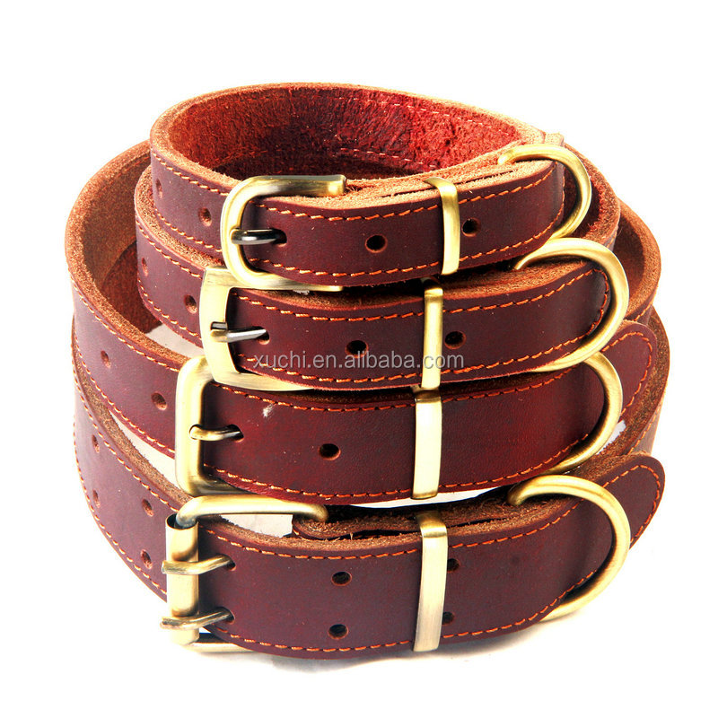 pet accessories china leather collar for dog