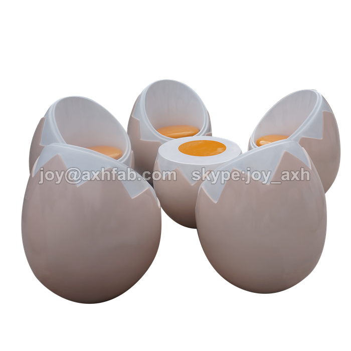 Indoor & Outdoor Decorative Egg Chair and Table, Fiberglass/FRP Leisure Chair