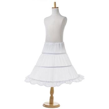 c8d33351c Petticoat Half Slip 3 Hoop Flower Girl Crinoline White Black One Size  Children Petticoat