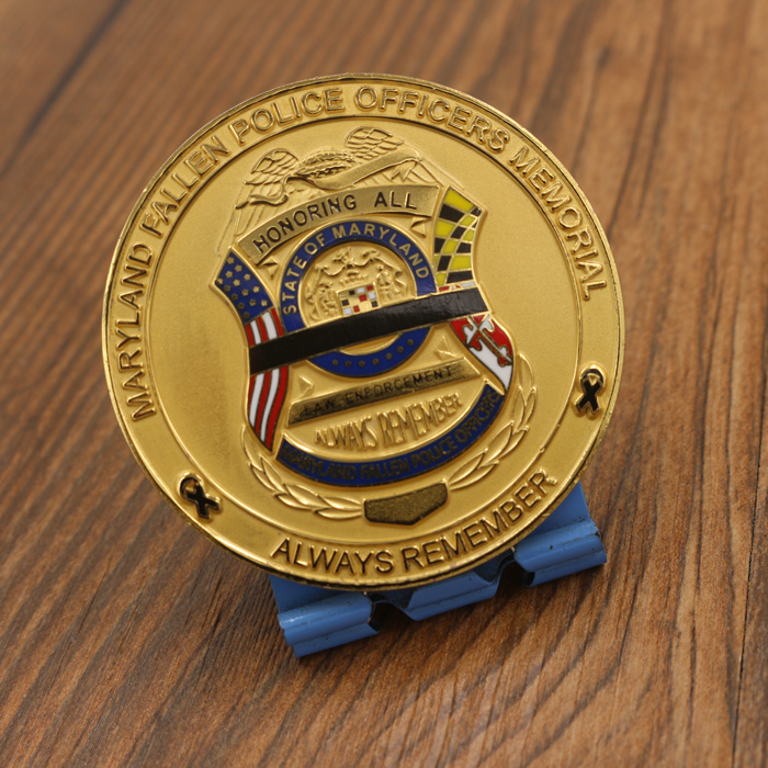 Maryland Memorial Ouro Security Challenge Coin
