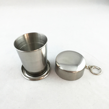 high quality mini stainless steel foldable shot glass