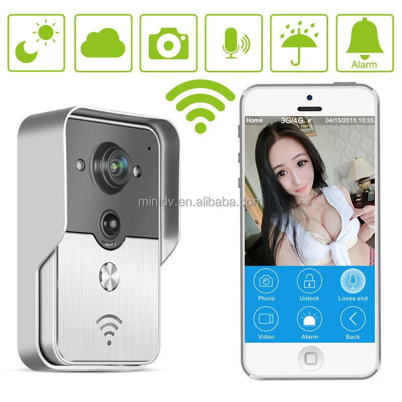 Newest WiFi Video Door Phone With Android IOS APP Remote Unlock Two-way Intercom Tamper alarm PIR detect POE Power Supply
